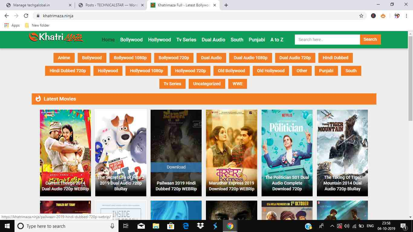 New South Hindi Dubbed Movie Download- Best 5 Movie Sites (2019)